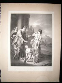 After Adriaen van der Werff C1840 LG Folio Print. Repudiation of Hagar